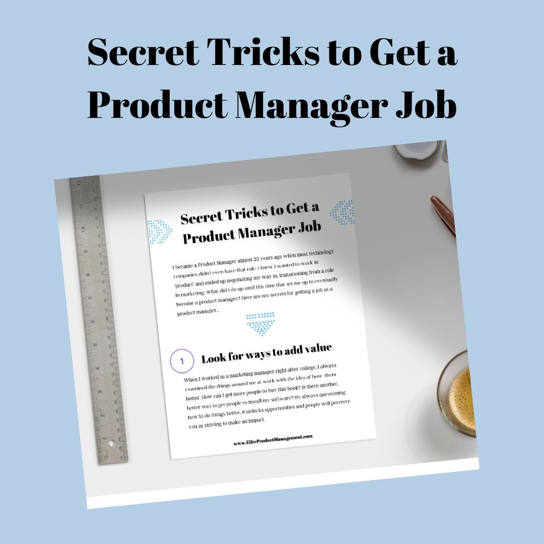 Secret Tricks to Get a PM Job