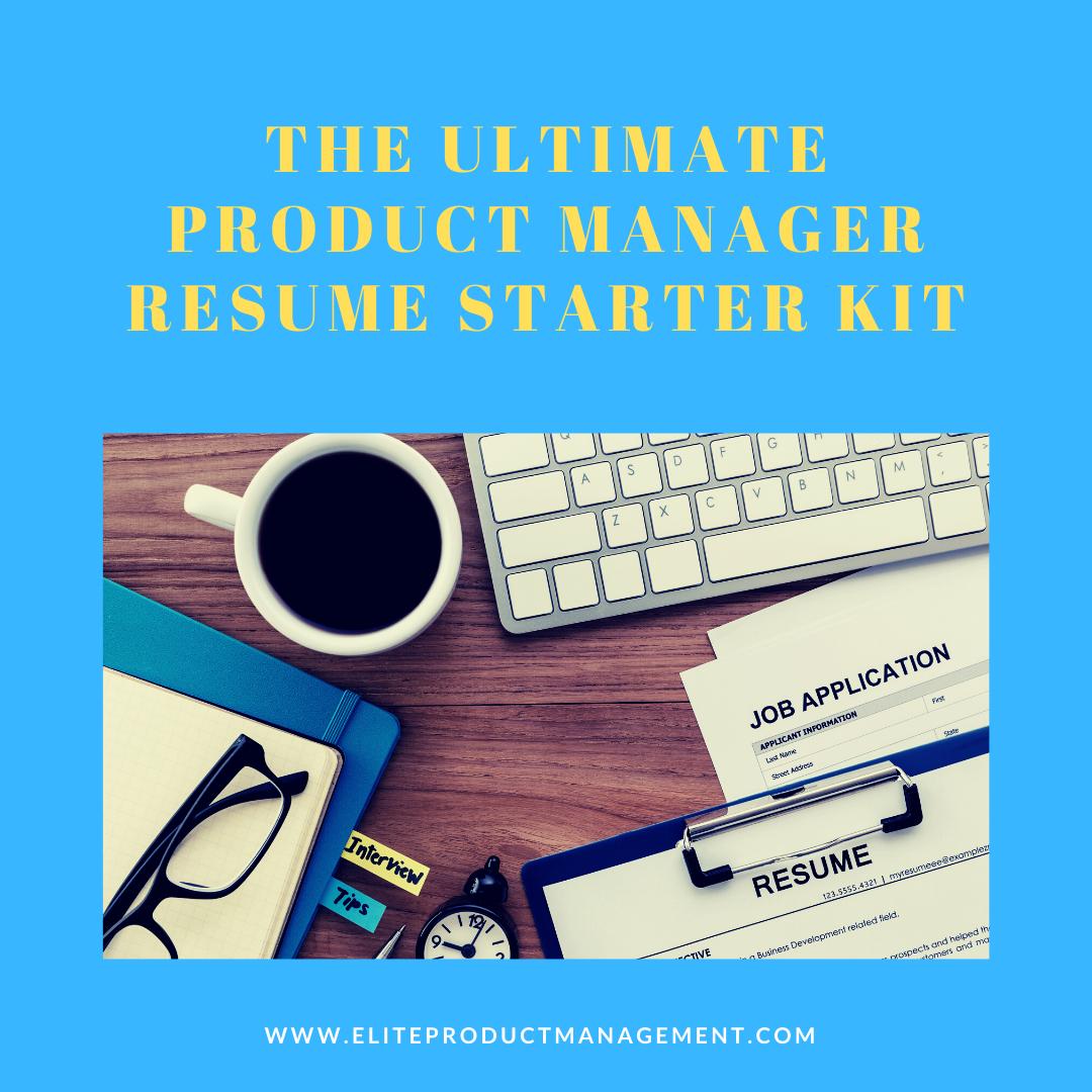 Ultimate PM Manager Resume Starter Kit